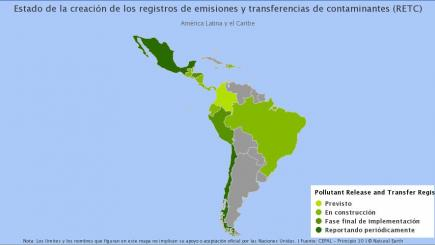 Latin America and the Caribbean: Status of Creation of Pollutant Release and Transfer Registers (PRTR)