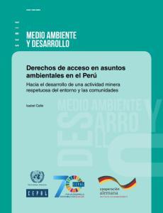 Derechos de acceso en asuntos ambientales en el Perú